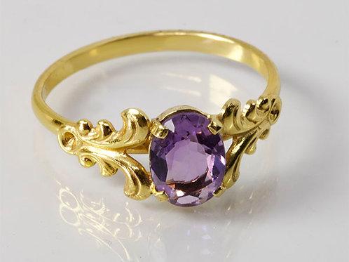 8KT vintage ring Amethist