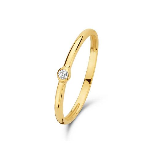 14kt golden stone ring