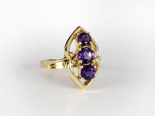 14kt vintage ring Amethyst