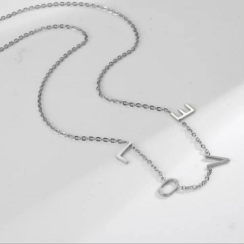 Letter chain necklace 3 letters