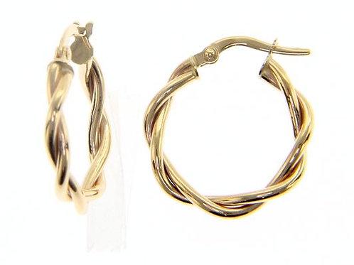 9 Karaat twister earrings