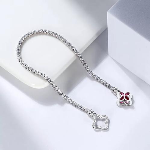 Tennis flower bracelet