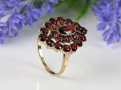 8KT vintage ring Granaat