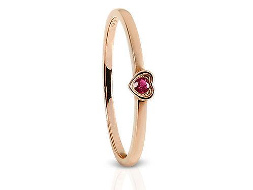 14kt gemstone heart ring