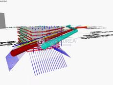 삼성~동탄 광역급행철도 제1공구 환기구 가시설 모델링