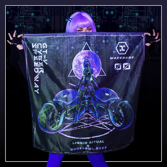 Cyberpunk Wavebabe Flag