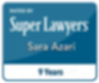 Sara Azari SuperLawyers Attorney