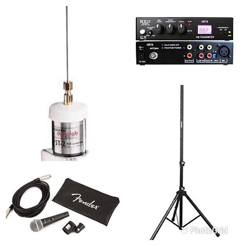 Rolls HR70 FM Radio system package for Drive-In Church Services