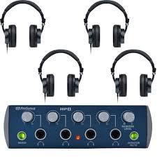 Presonus PreSonus HD9/HP4 Pack 4-Channel Headphone Amplifier with 4 Closed-Back