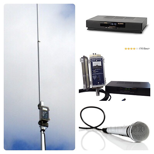 iA.M. Portable AM Radio Station Pkg for Parking Lot Church Services, etc