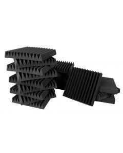 "Ultimate Acoustics Studio Bundle I Wedge-style Professional Studio Foam - 12""x12"