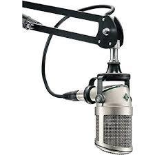 "Neumann BCM 705 dynamic mic for that classic ""American"" announcer's voice"