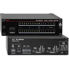 RDL RU-SM16A 2 Channel Audio Meter w. power supply