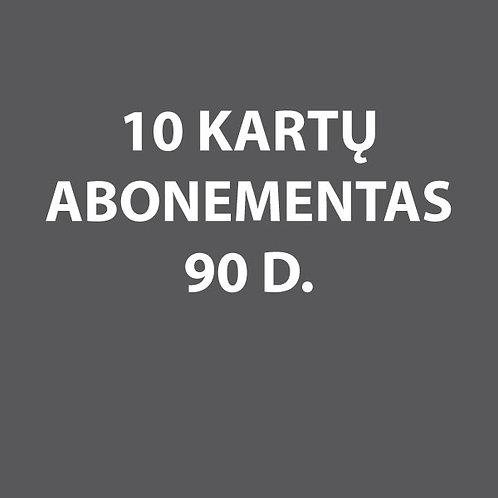 10 kartų narystė