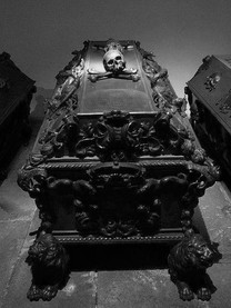 Coffin with Skull and Crossbones