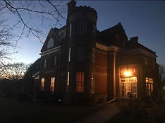 RavenHearse Manor Outside at Night