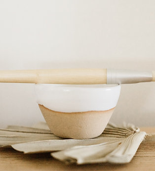 Handcrafted Clay Mask Bowl with Bamboo Brush