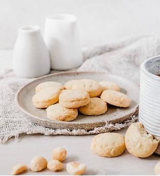 Organic Times White Choc Macadamia Cookies 150g