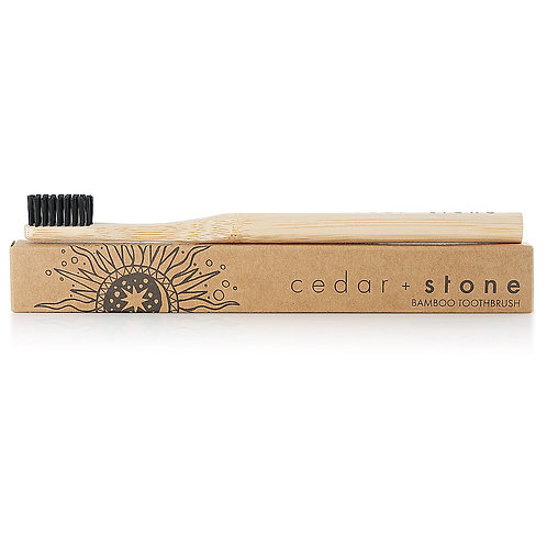 Cedar and Stone Bamboo Charcoal Tooth Brush