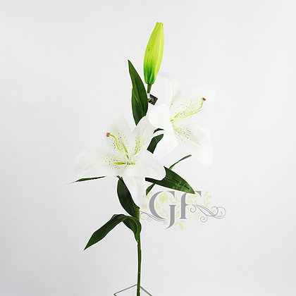 83cm Real Touch Oriental Lily  GF60303 - White
