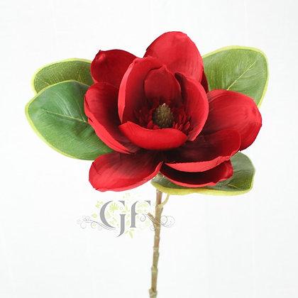 72cm Satin Magnolia Stem GF60160 - Red
