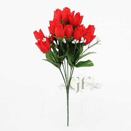 Mini Rose Bud Spray x 6 Stems GF60202 - Red