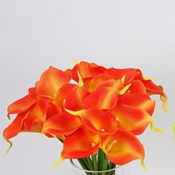 35cm PU Calla Lily Bundle x 9 GF60393 - Orange