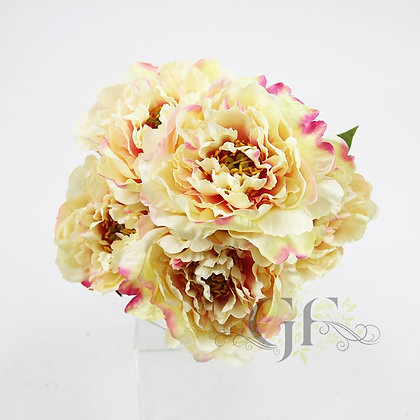 52cm Peony x 5 Flowers in Bundle GF60424 - Apricot