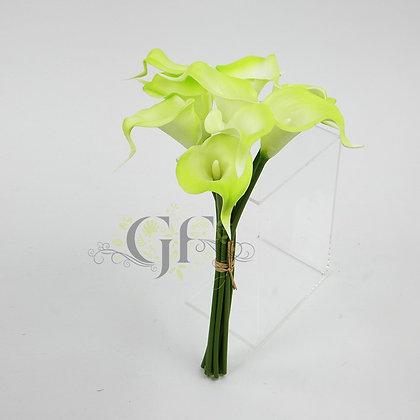 35cm PU Calla Lily Bundle x 9 GF60393 - Green