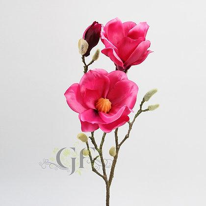 75cm Magnolia Branch  GF60405 - Fuchsia