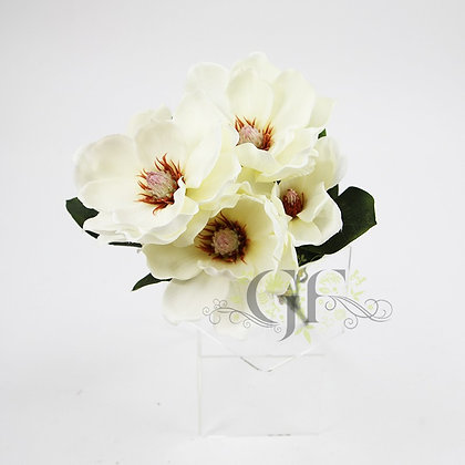 50cm Magnolia Bush GF60425 - White