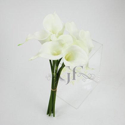 35cm PU Calla Lily Bundle x 9 GF60393 - White