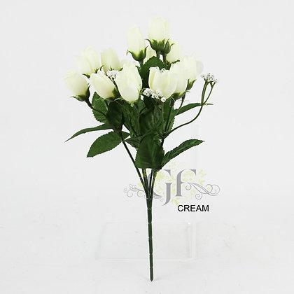 Mini Rose Bud Spray x 6 Stems GF60202 - Cream