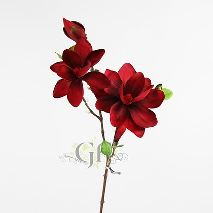 83cm Magnolia Spray x 5 GF60296 - Red