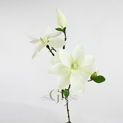 83cm Magnolia Spray x 5 GF60296 - White