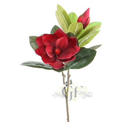 71cm Magnolia Spray x 2 GF60295 - Red