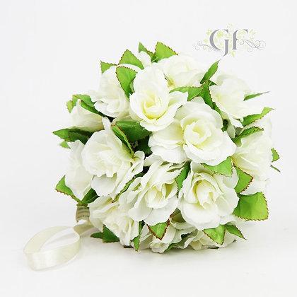 19cm Medium Rose Ball GF40015 - White
