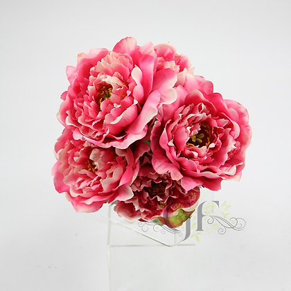 52cm Peony x 5 Flowers in Bundle GF60424 - Pink