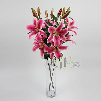 85cm Oriental Lily Branch GF60406 - Mauve