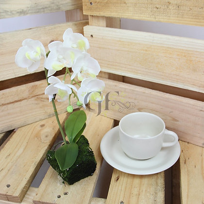 35cm Ruptured Orchid GF60320 - White