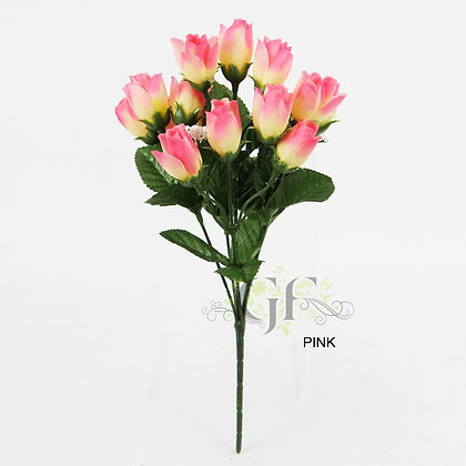 Mini Rose Bud Spray x 6 Stems GF60202 - Pink