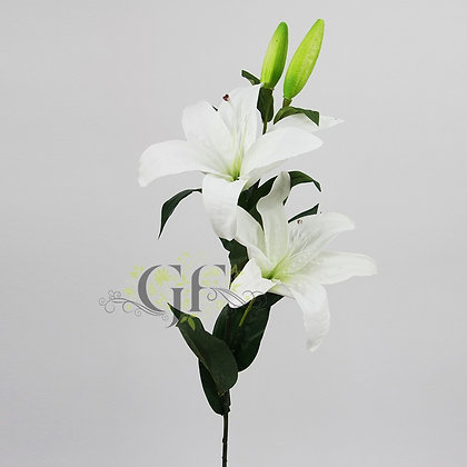 85cm Oriental Lily Branch GF60406 - White