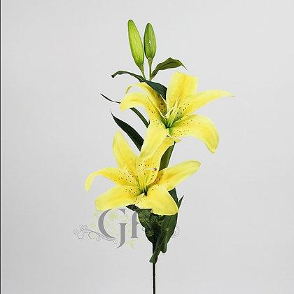85cm Oriental Lily Branch GF60406 - Yellow