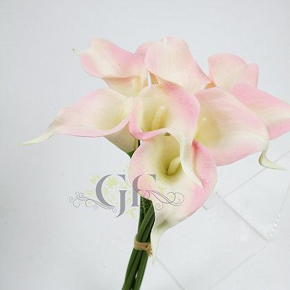 35cm PU Calla Lily Bundle x 9 GF60393 - Lt Pink