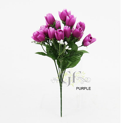 Mini Rose Bud Spray x 6 Stems GF60202 - Purple