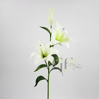 95cm PU Lily x 2 Flowers 1 x Bud GF60397 - Cream