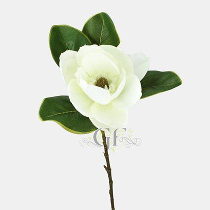 72cm Satin Magnolia Stem GF60160 - Cream