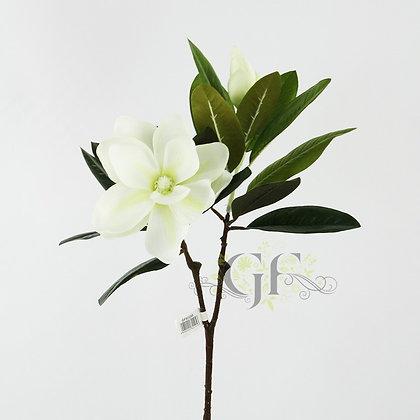71cm Magnolia Spray x 2 GF60295 - White