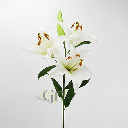 114cm Casablanca Lily Spray GF60279 - Cream