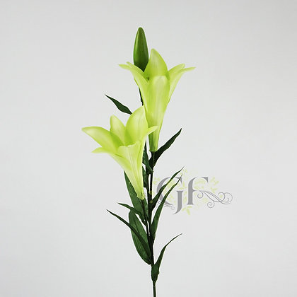 89cm Easter Lily 2 Flowers 1xBud GF60241 - Green